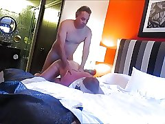 Married Bi-dad got fucked on Business Trip