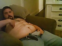 Chubby bear cumming