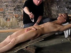 Self bondage cock sucking gay British lad Chad Chambers is h