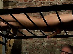 Hot gay Blindfolded slave man Reece has found himself strapp