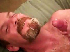 Straight mature bear bikers tasting cock