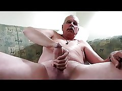 Daddy with Moustache play and cum