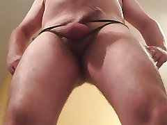 mature exhibitionist - bound cock (pt 1)