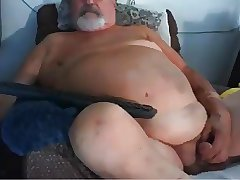 gay grandpa stroke on webcam