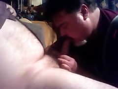 Str8 Dad bear likes unfathomable face hole from Bi Dad Bear