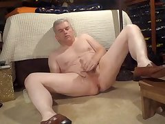 Dad masturbating in loafers