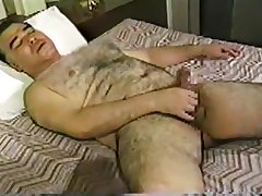 Oriental Dad Bear cumming after taking a washroom