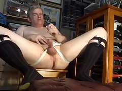 Dad masturbating in otc socks and jockstrap