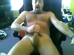 another sexy daddy jerking off