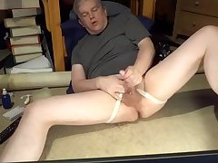 Daddy masturbating in jockstrap