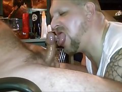 Uncut Redneck Daddy Nuts in My Mouth