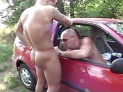 Bald Daddy Fucking Hunk Outside
