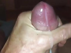 Big cock older man jerks off