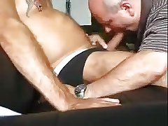 Older men sucking and fucking with eack other