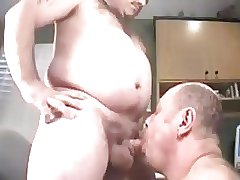 A older mature men sucking another men