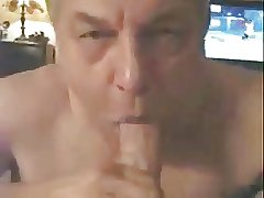 Grandpa sucking a big cock