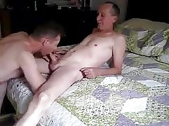 Young boy suck cock for slim older men