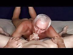 Older men sucking a big cock