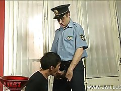 Boy blows old cock under threat of imprisonment