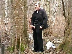 Russian Daddy from Saint Petersburg wanking in public