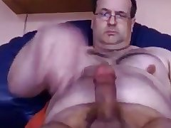 Daddy bear playing with his fat cock 2