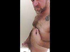 Hairy Sexy Bear JO In The Shower