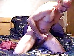 Straight daddy jerking off